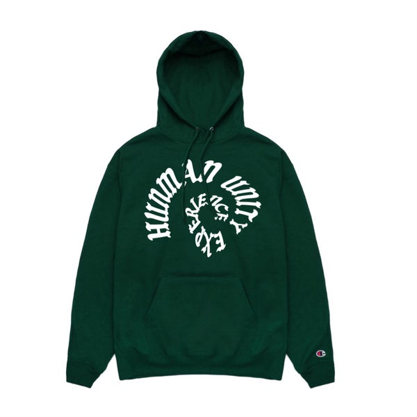 Image of HUE warp green eco hoodie (RBG)