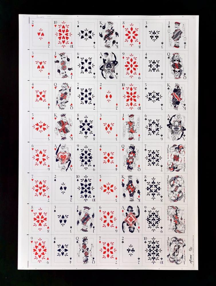 Image of Planche non coupée jeu de cartes
