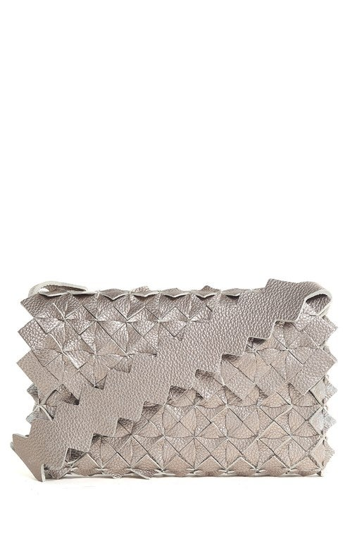 Image of Nahua clutch in pelle argento