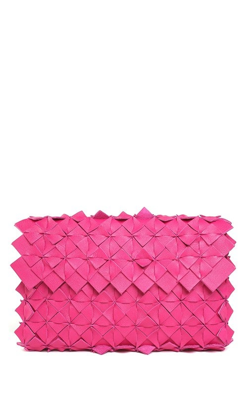 Image of Nahua clutch in pelle fucsia