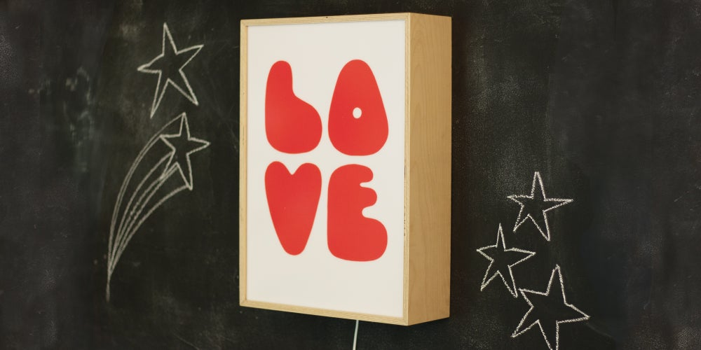Image of LOVE WHITE - Signed, limited edition, handmade light box