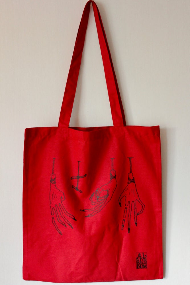 Image of Hands Down - Totebag Red