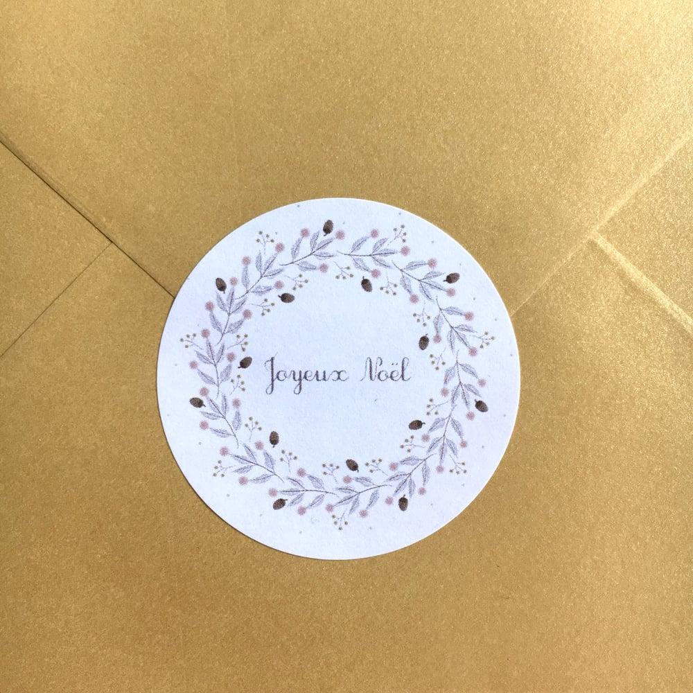 Image of Étiquettes autocollantes Noël