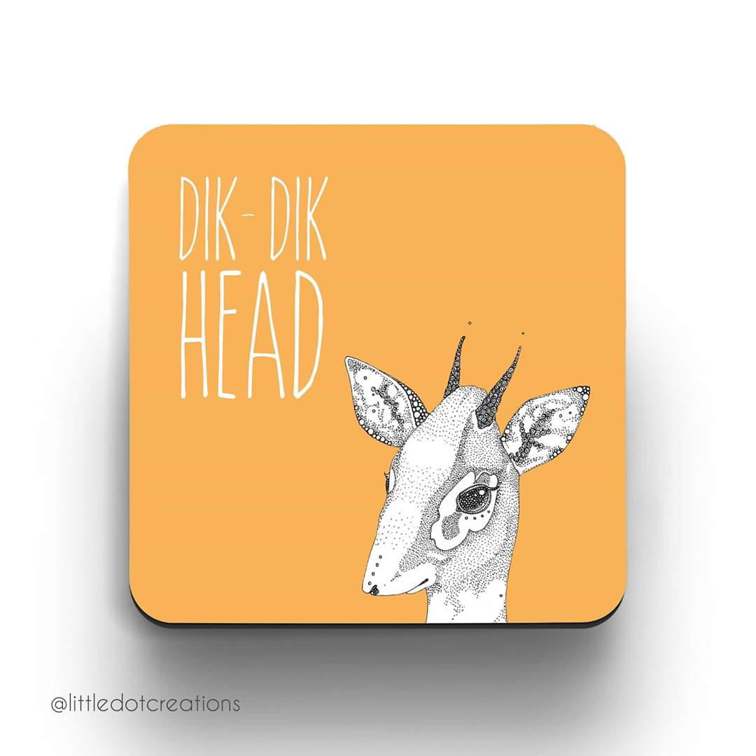 Image of Dik Dik Head Coaster
