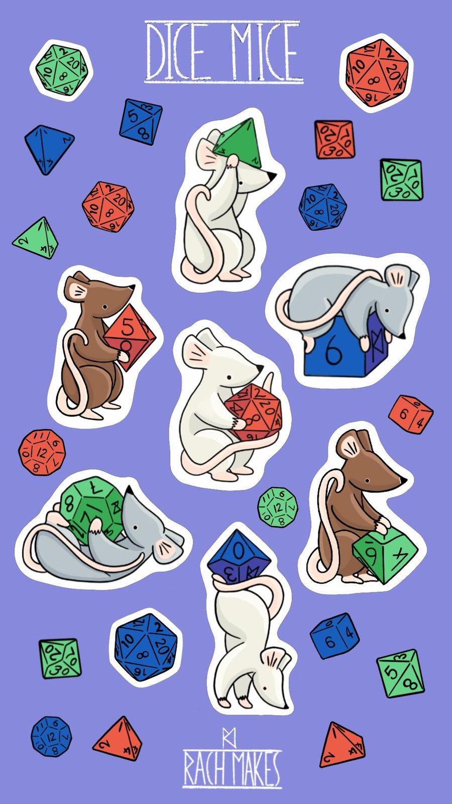 Image of Dice Mice Sticker Set