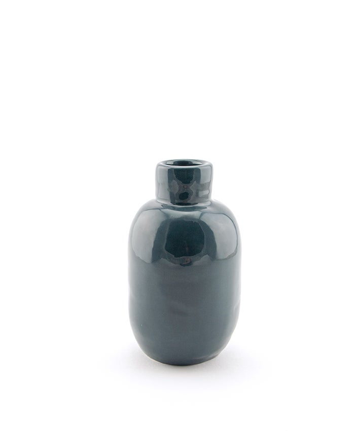 Image of Grey Blue Bottle Vase No 1