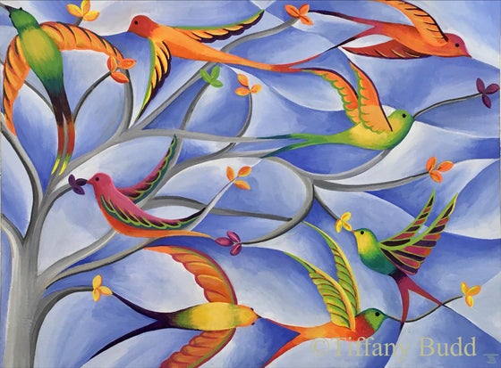 Image of Rainbow Flock of Birds