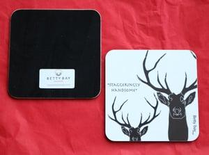 Image of Set of Four Staggeringly Handsome  Melamine Coaster