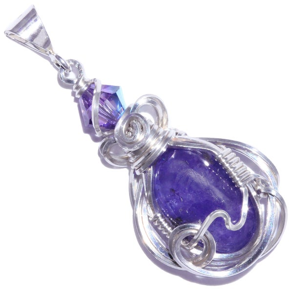 Image of Tanzanite Sterling Wire Wrapped Pendant