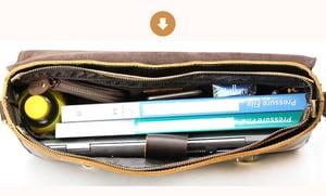 """Image of Men's Large Handmade Vintage Leather Briefcase / 15"""" MacBook Pro 15"""" 16"""" Laptop Bag (n14L)"""