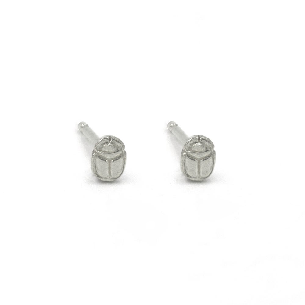 Image of Scarab Seed Studs Silver