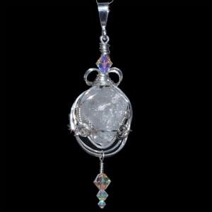 Image of Large Russian Phenacite Crystal Handmade Pendant