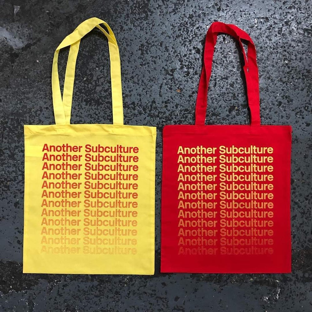 Image of TOTE BAG + BADGE + ANOTHER SUBCULTURE FEB 2020