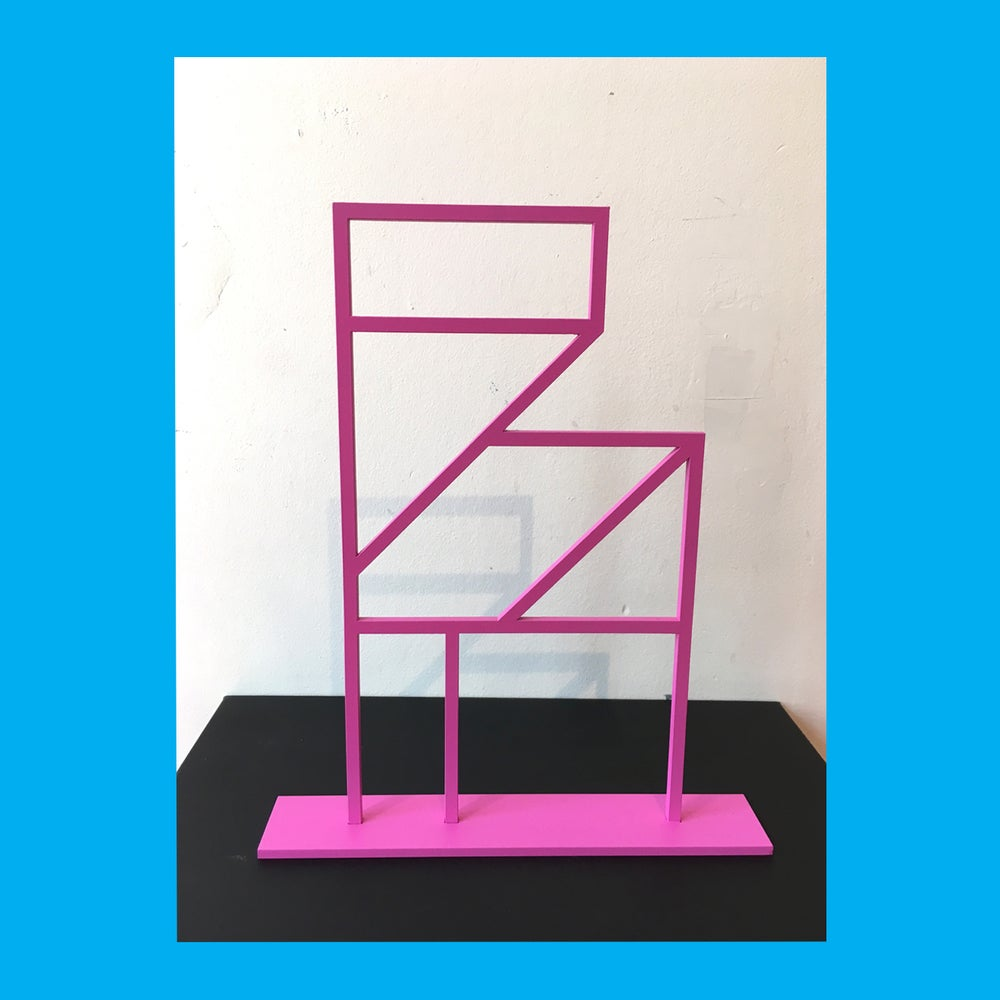 Image of Painted Aluminium Folly Sculpture (Pink)