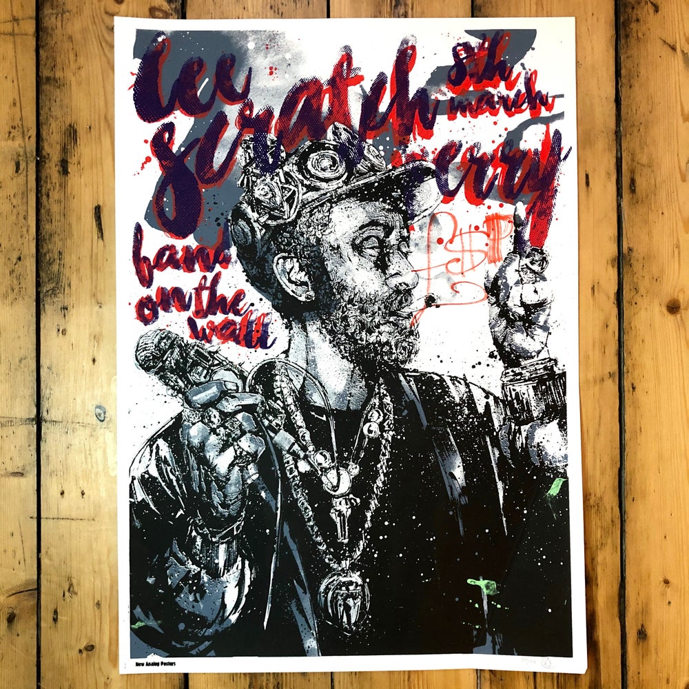 Image of Lee Scratch Perry - Signed & Doodled