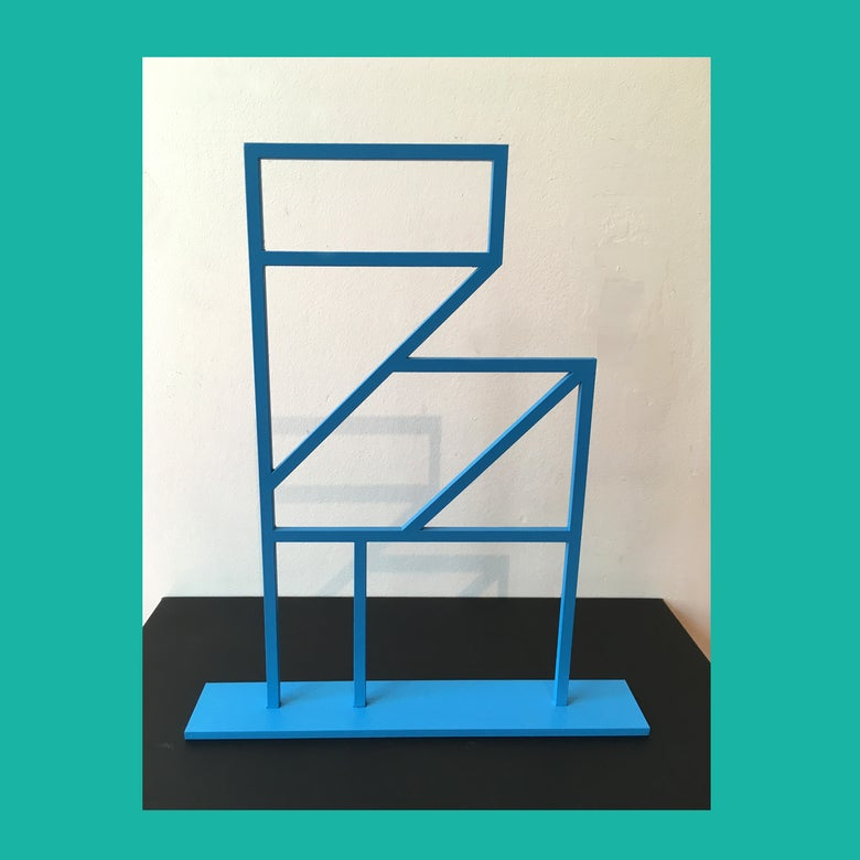 Image of Painted Aluminium Folly Sculpture (Blue)