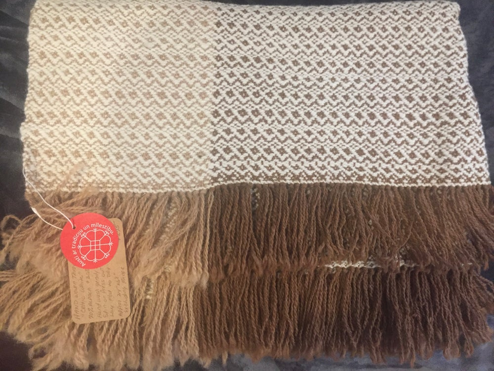 Image of White Celtic Alpaca Throw
