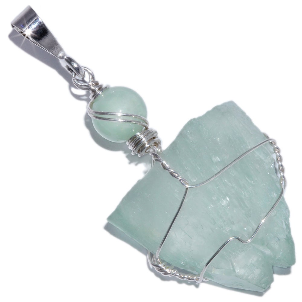 Image of Green Apophyllite Twin Crystal Handmade Pendant