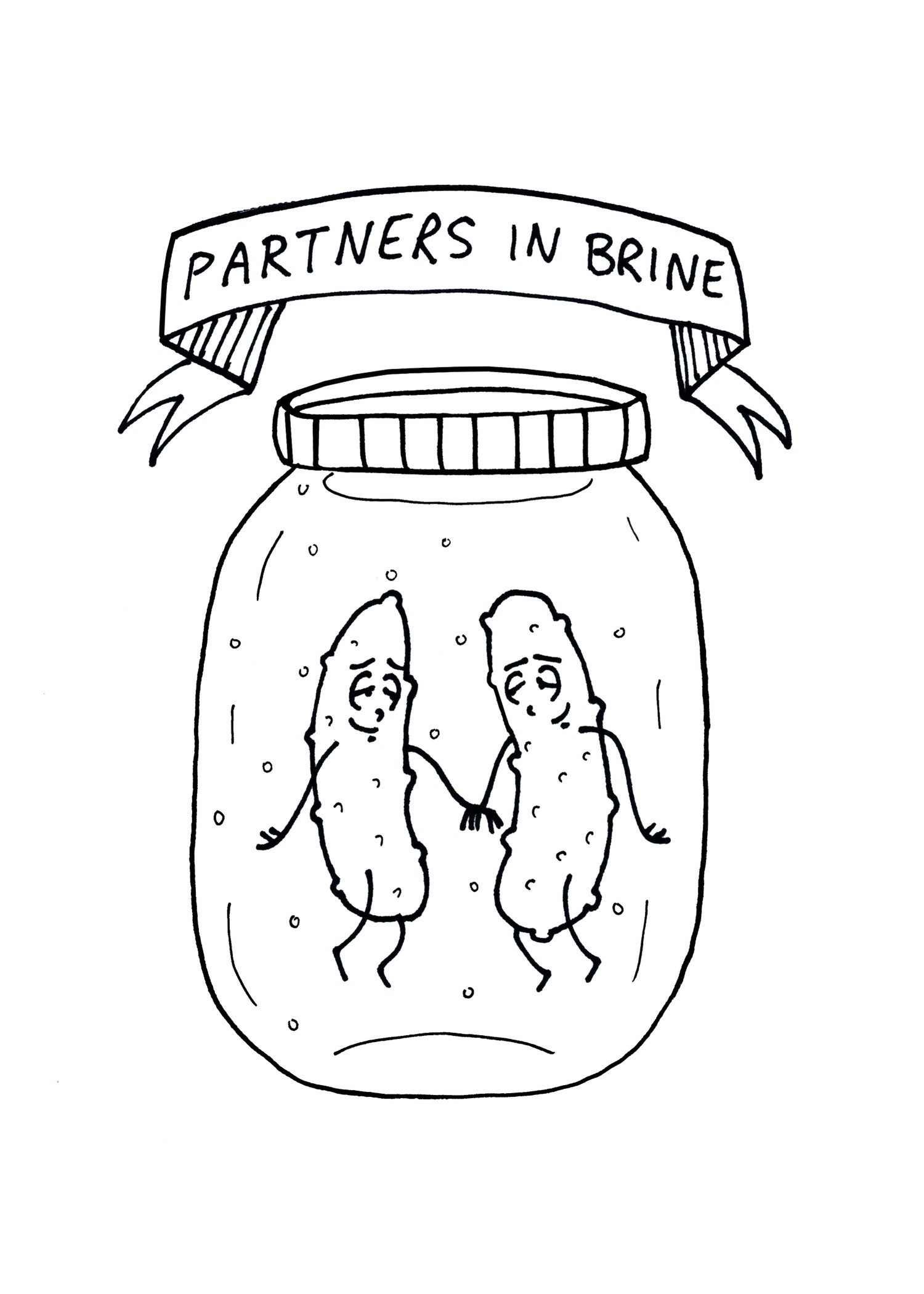 Image of Partners in Brine - small print