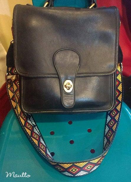 Image of Aztec Diamond Pattern Strap for Handbags - Geometric Tribal Design - Adjustable Shoulder-Crossbody