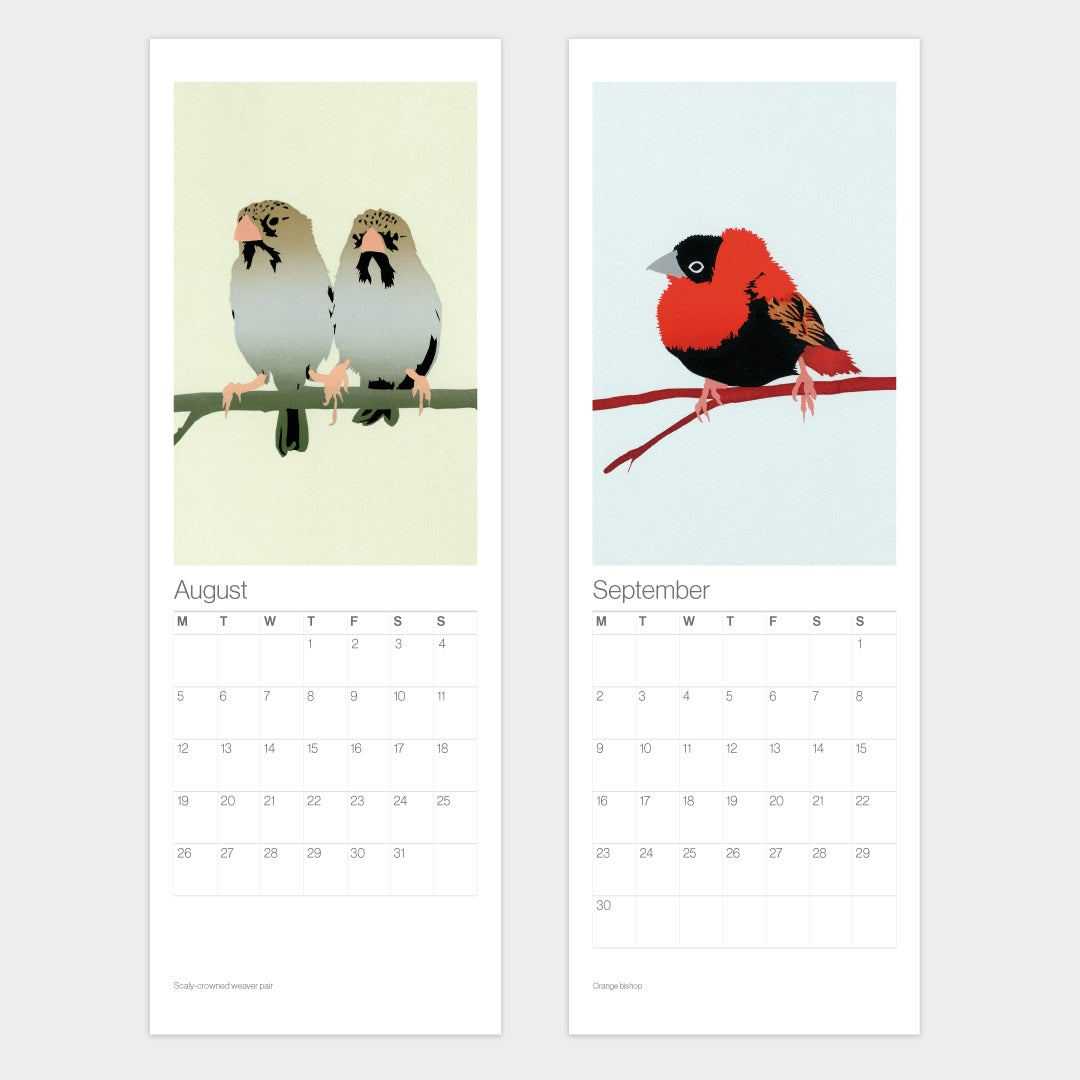 Image of 2020 Birds Calendar – Free UK shipping!