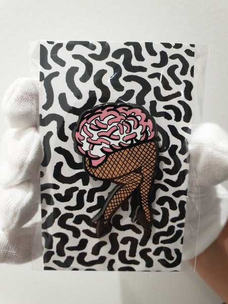 Image of Brain Legs Enamel Pin