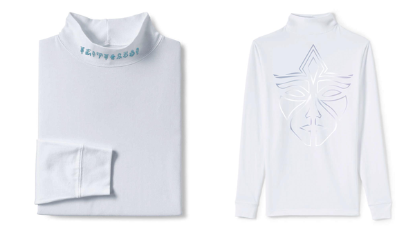 Image of INEVITABLE Neck-embroidered Long Sleeve w reflective white-on-white mask