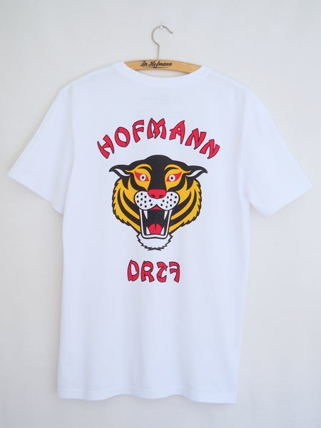 "Image of ""TIGER"" (backside) - Organic Cotton - White"
