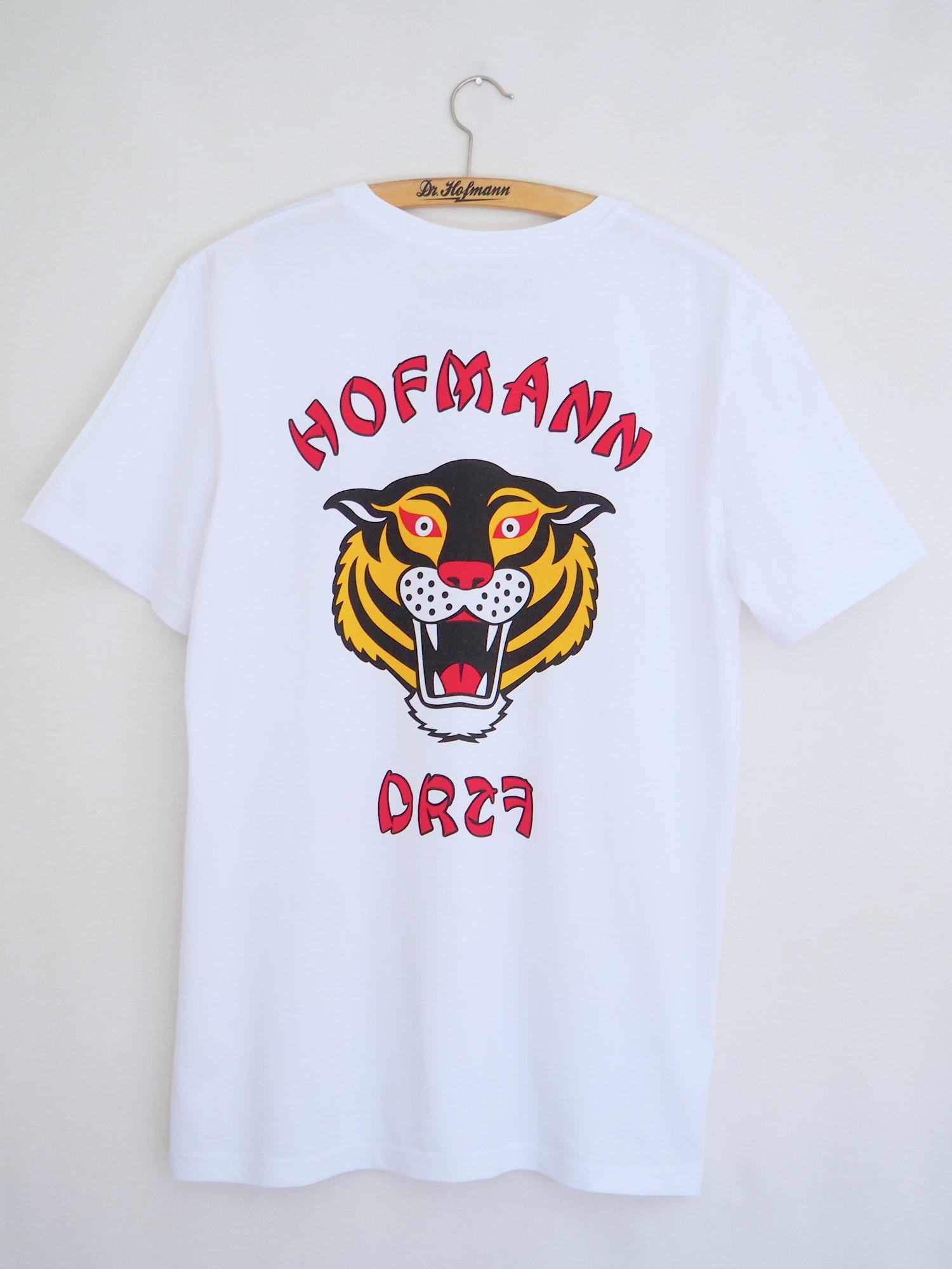 "Image of ""TIGER"" (backside) - Organic Cotton - White"