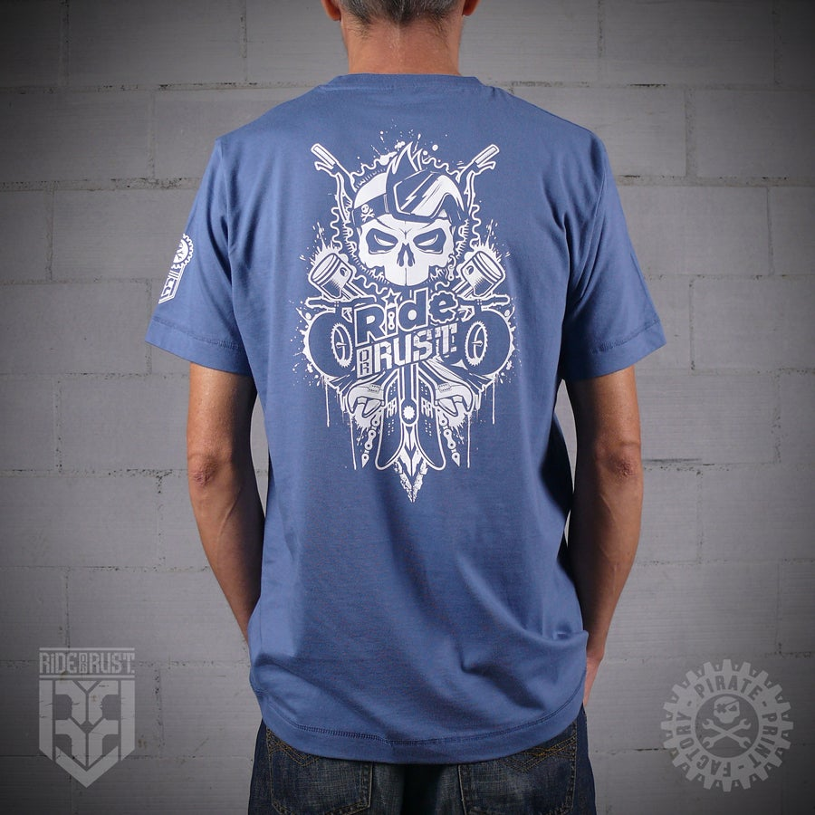 Image of T-SHIRT GHOST RIDER BLUE