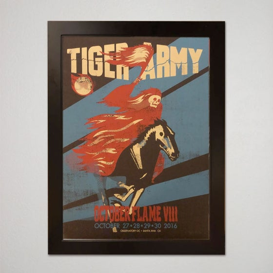 Image of TIGER ARMY OCTOBER FLAME 8- artist proof