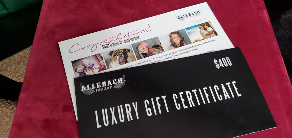 Image of $400 Allebach Photography Gift Certificates