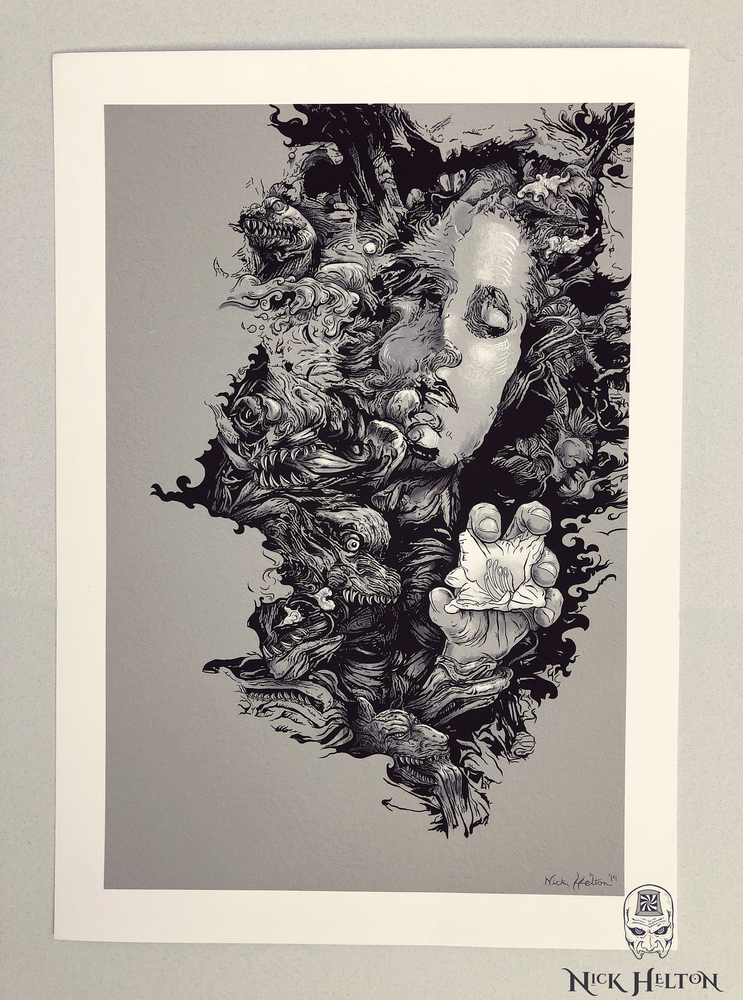 "Image of ""The Last Temptation"" -Black and White Print-"