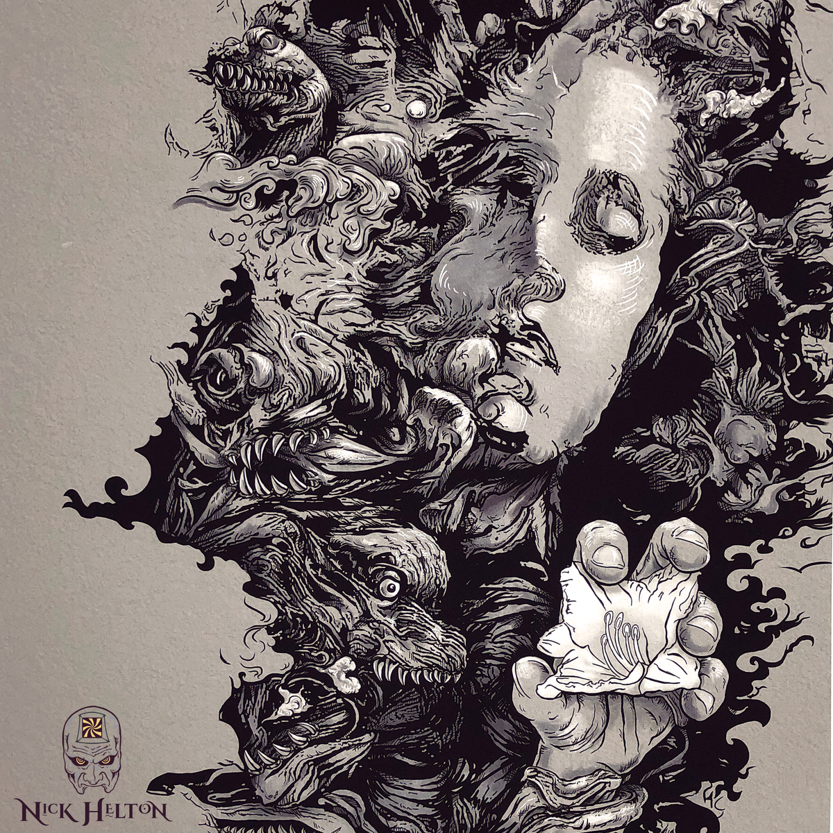 """Image of """"That Last Delicate Bloom"""" -Giclee print - BW version"""