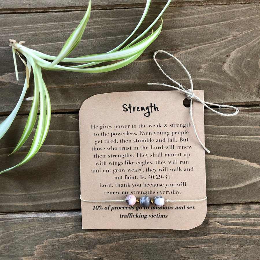 Image of Strength Barely There Tri-Stone Bracelet