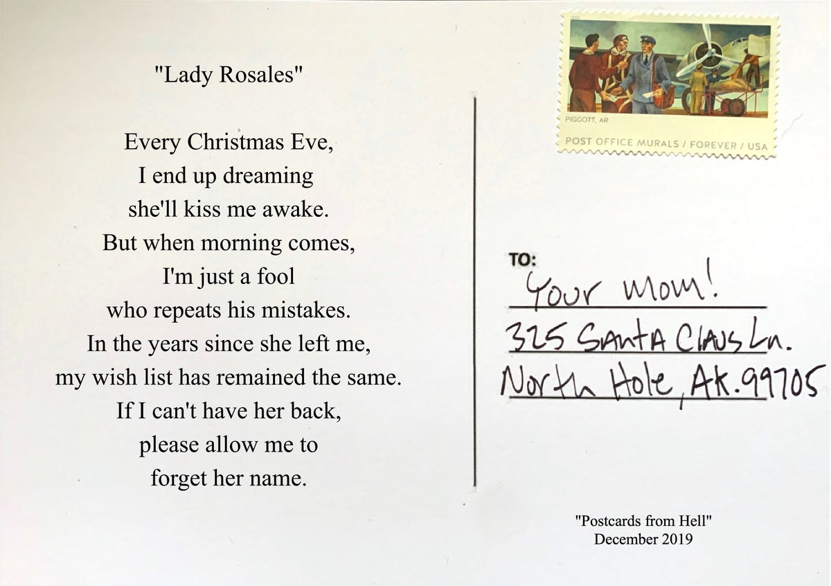 """Image of Postcards from hell - """"lady Rosales"""""""