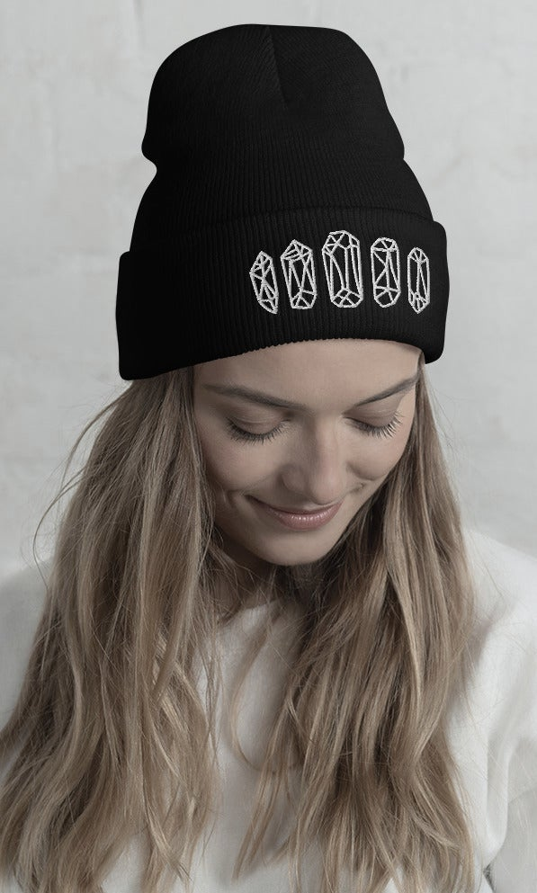 Image of CRYSTAL CROWN BEANIE