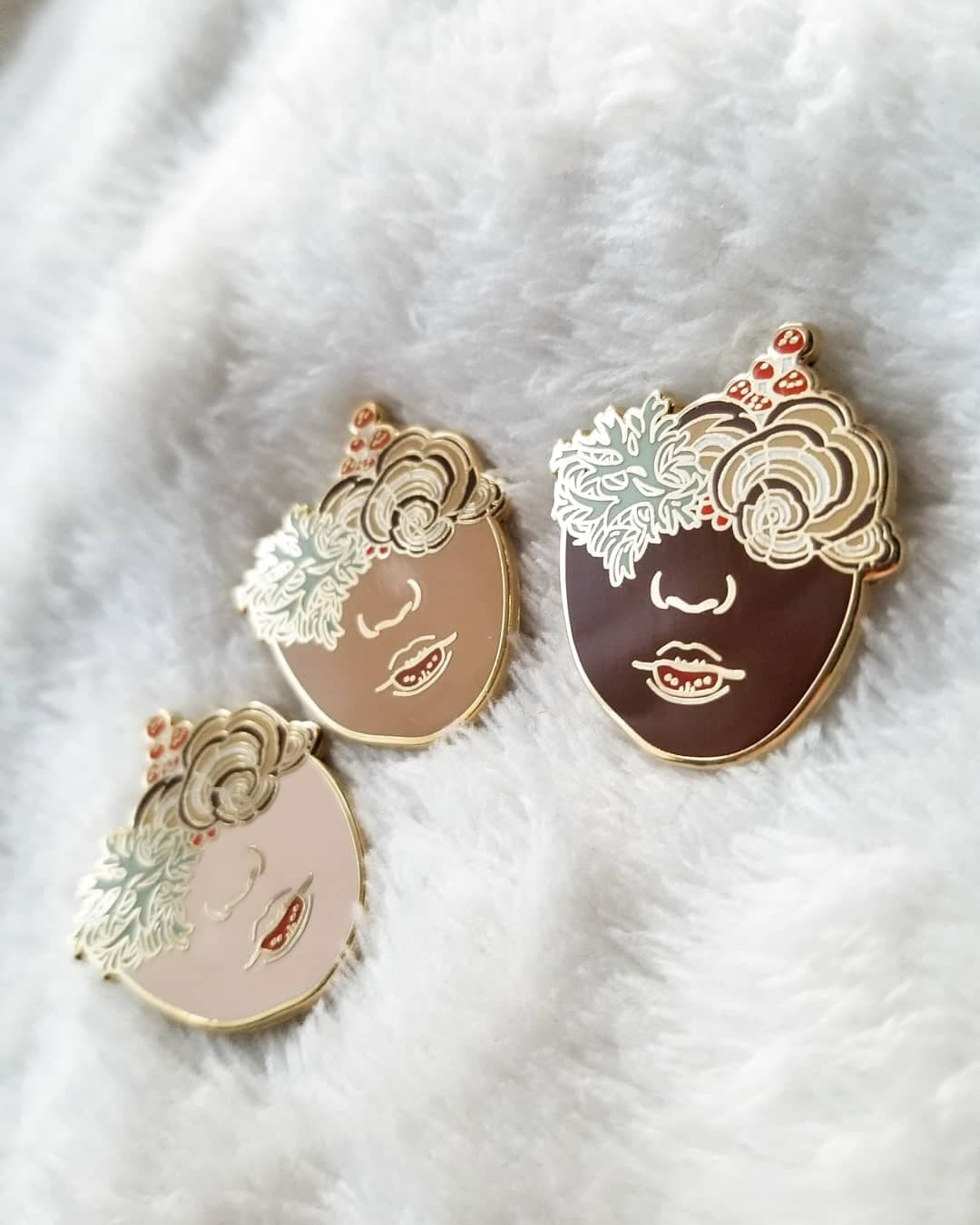 Image of 'Kinoko' Winter Variant Pins