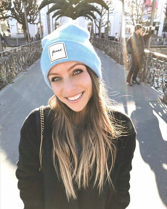 Image of Lightblue Label Patch Beanie