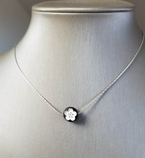 Image of Black + White Flower Necklace