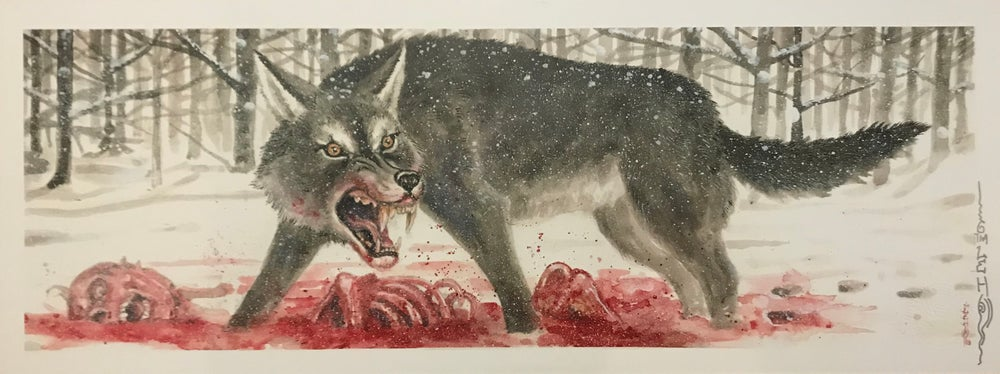 "Image of Tim Lehi ""Snow Kill King Wolf"" Signed Poster"