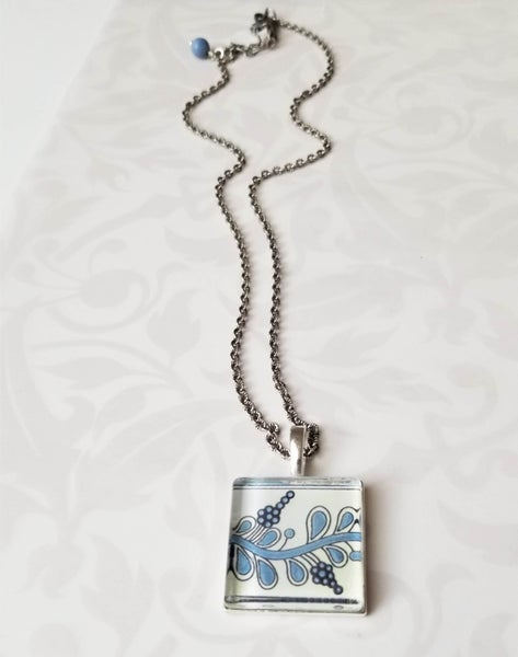 Image of Simple Blueberry Branch Necklace