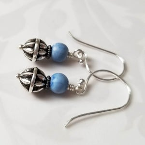Image of Bluenberry + Silver Earrings
