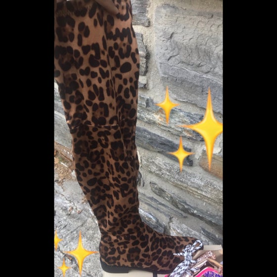 Image of Cheetah high Boot
