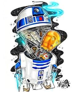 "Image of ""R2-D2"" Original Painting"