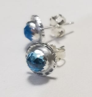 Image of 5mm gemstone disc studs