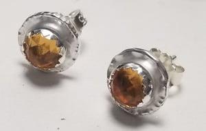 Image of 5mm gemstone disc studs