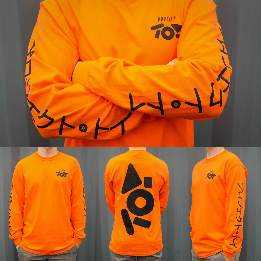 Image of PROJECT TOY Long Sleeve T-shirt - Orange