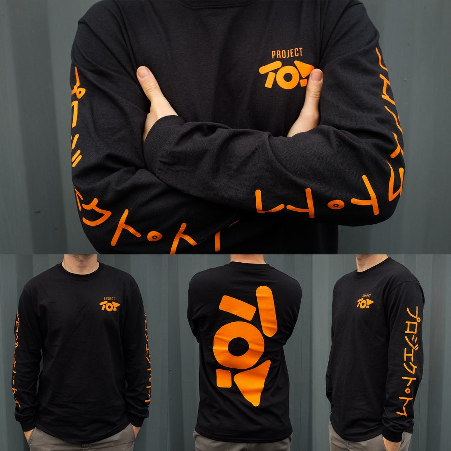 Image of PROJECT TOY Long Sleeve T-shirt - Black