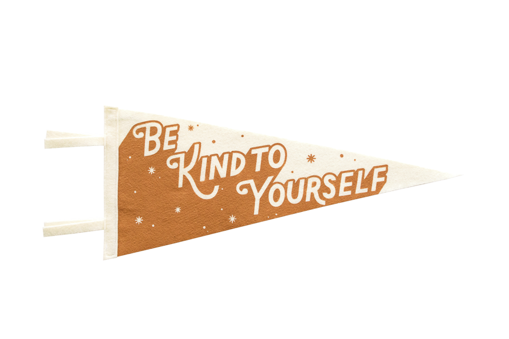 Image of Be Kind To Yourself (Orange) Felt Pennant